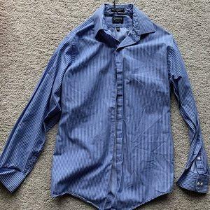 Blue Arrow Striped Dress Shirt